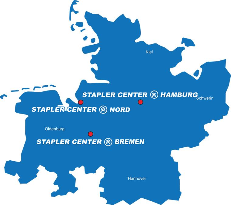 Übersichtskarte Staplercenter
