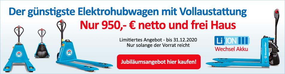 Jubiläumsangebot Elektrohubwagen nur 950,- Euro!